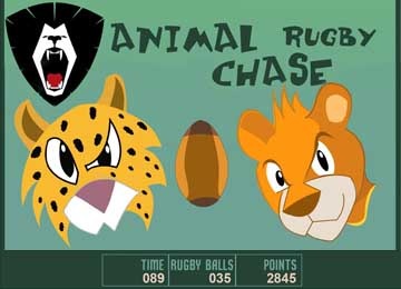animal rugby cartoon games chase