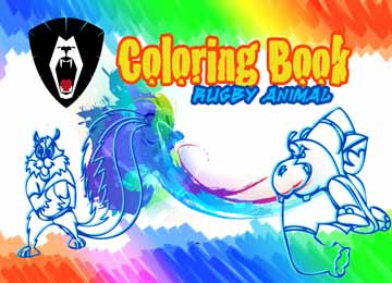 animal rugby cartoon games coloring book
