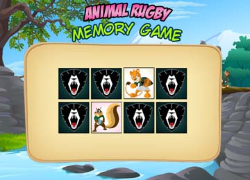 animal rugby cartoon games memory