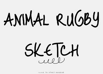 animal rugby cartoon games sketch book